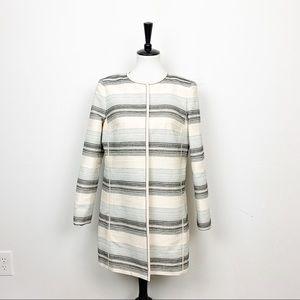 Lafayette 148 Long Tweed Jacket Size 8